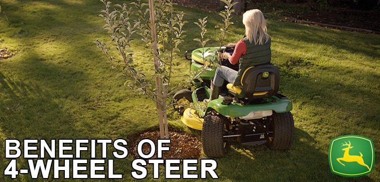 Benefits of 4-Wheel Steer on John Deere Riding Mowers