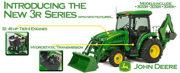 New John Deere 3R Series Compact Utility Tractors
