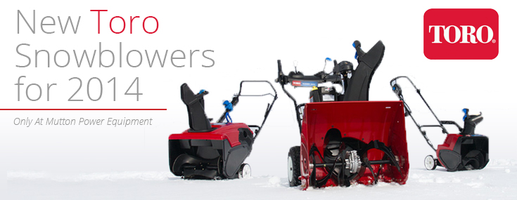 New Toro Snowblowers for 2014