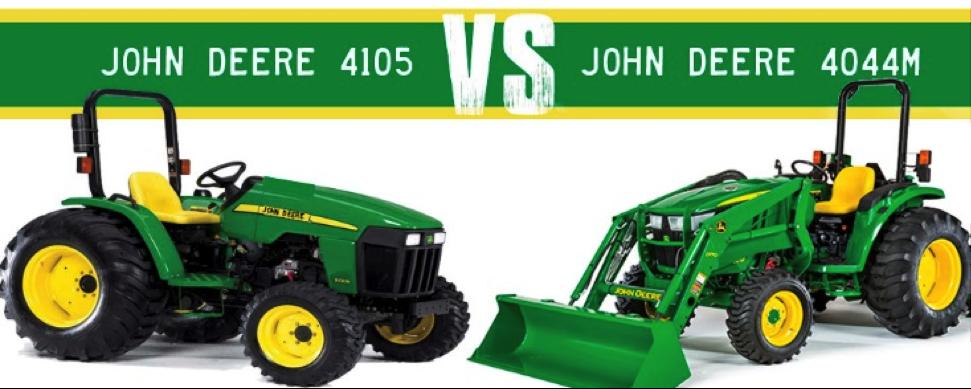 John Deere 4105 vs. 4044M Compact Tractors
