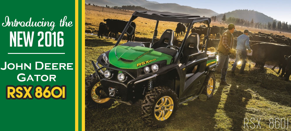 Introducing the New 2016 John Deere Gator RSX860i