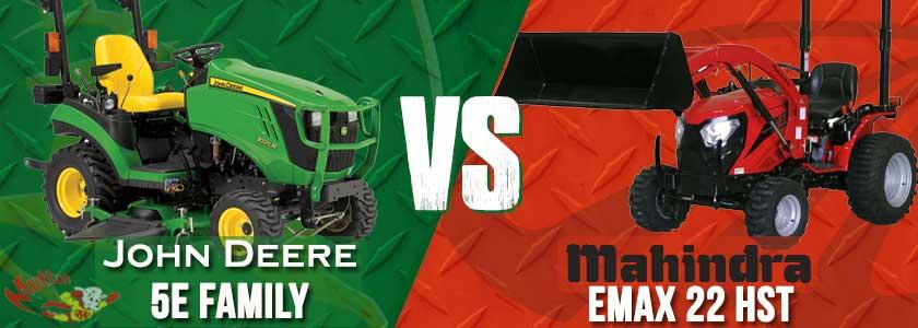John Deere 1025R vs. Mahindra eMax 22 HST