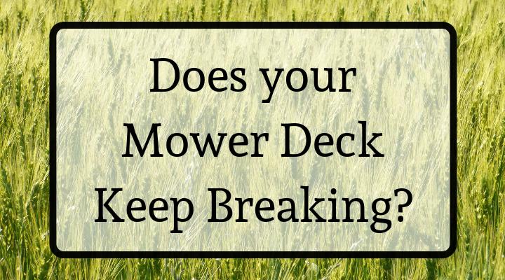 Mower Deck Belt Keeps Breaking?