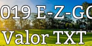 E-Z-GO Valor TXT