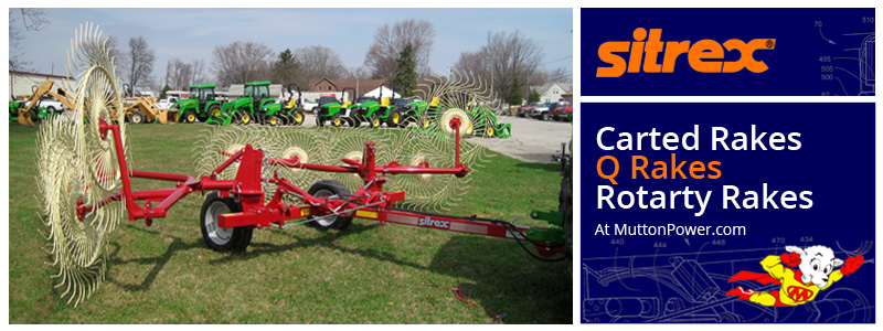 Sitrex Hay Equipment for Sale at Mutton Power Equipment